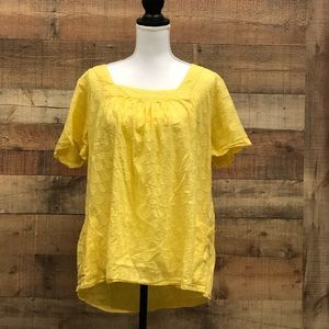 Size 2X New Directions Yellow Blouse
